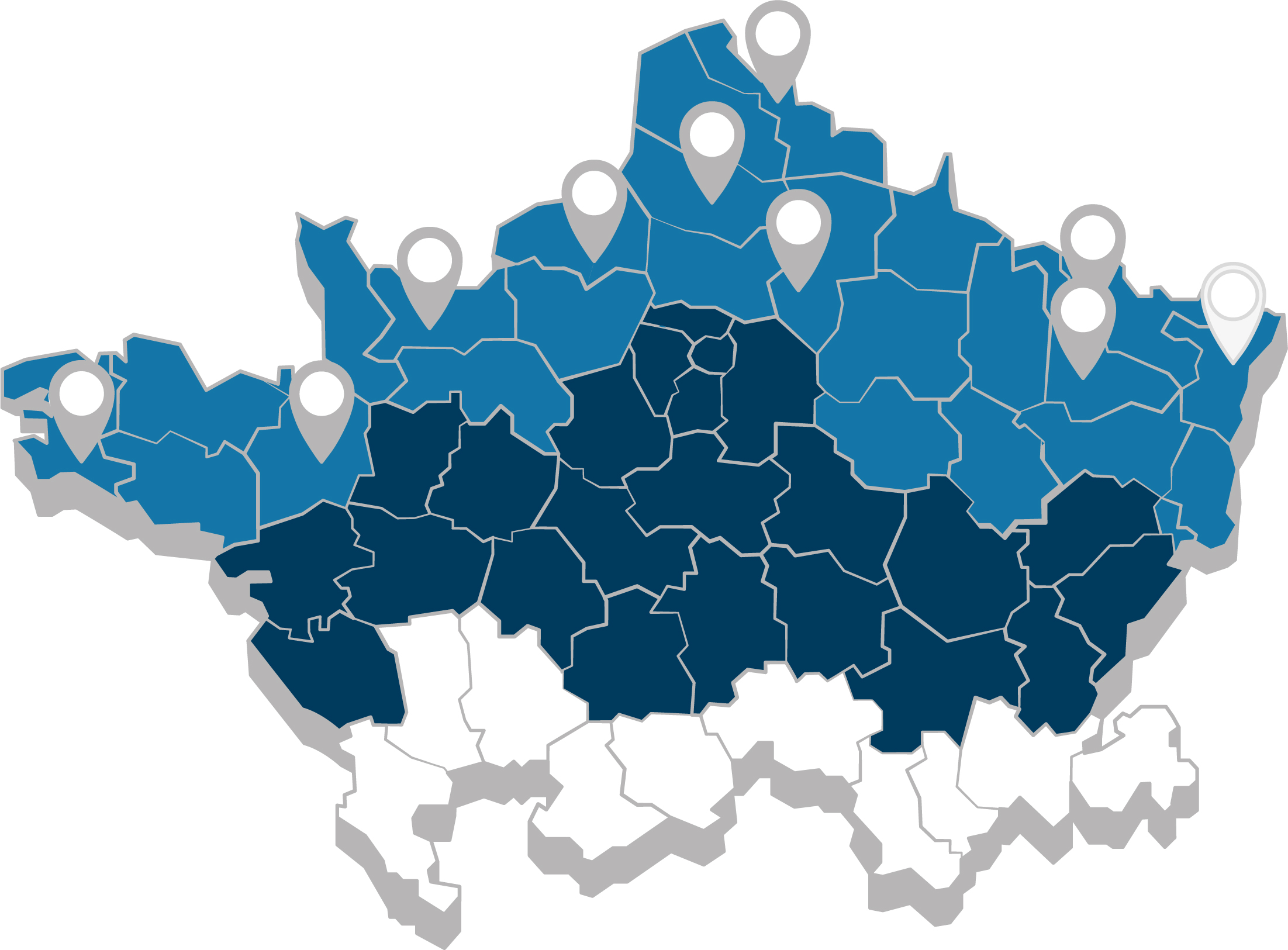 Carte des agences CIMME Sodimat