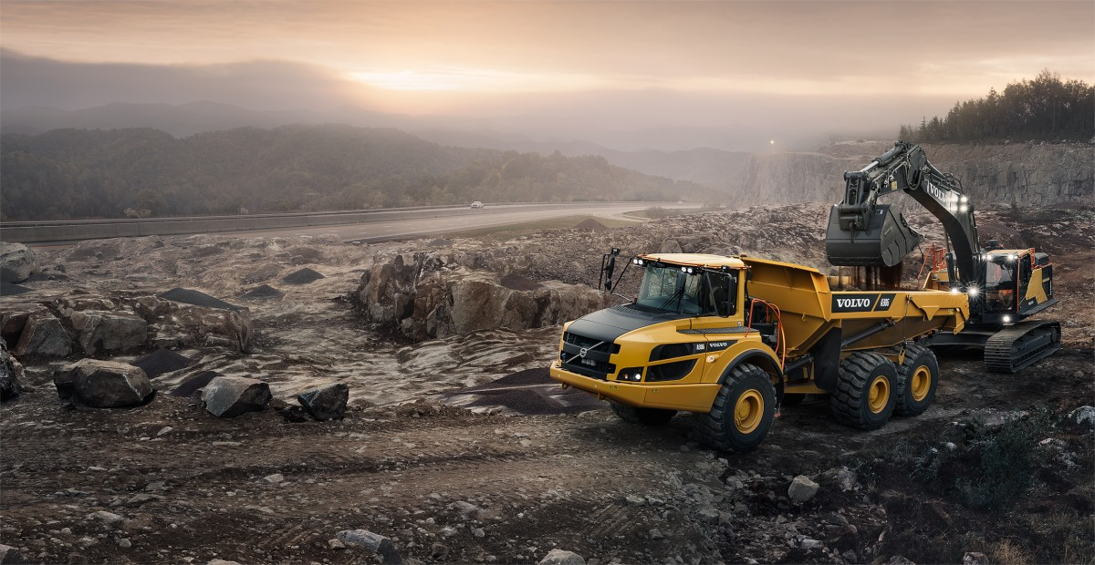 Photo tombereau volvo A30G